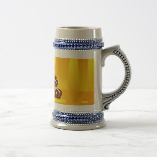 Illustration Happy Birthday Cake with Candles Beer Stein