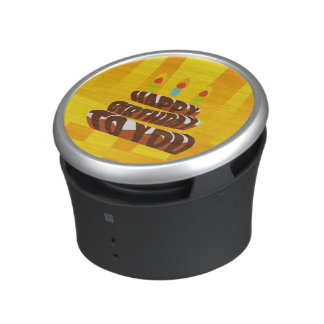 Illustration Happy Birthday Cake with Candles Bluetooth Speaker