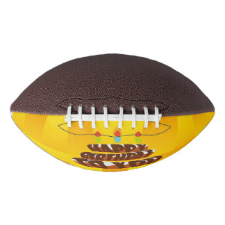 Illustration Happy Birthday Cake with Candles Football