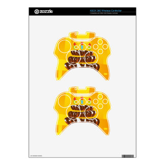 Illustration Happy Birthday Cake with Candles Xbox 360 Controller Skin