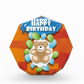 Illustration Happy Birthday teddy with ballons Award