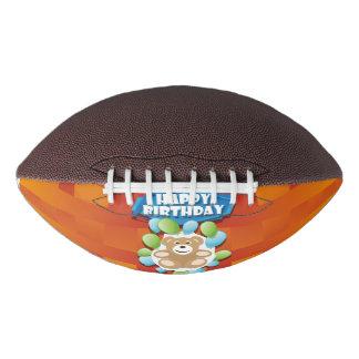 Illustration Happy Birthday teddy with ballons Football