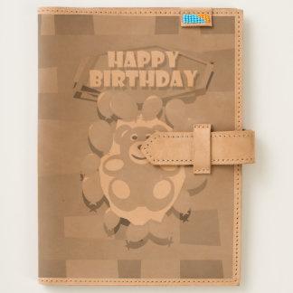 Illustration Happy Birthday teddy with ballons Journal