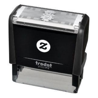 Illustration Happy Birthday teddy with ballons Self-inking Stamp
