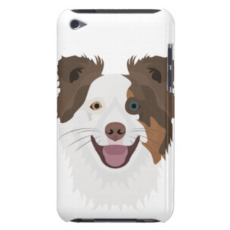 Illustration happy dogs face Border Collie Case-Mate iPod Touch Case