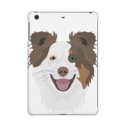 Case Savvy Glossy Finish iPad Mini Retina Case with Collie Phone Cases design