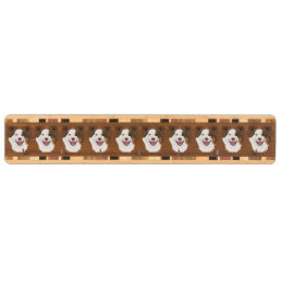 Illustration happy dogs face Border Collie Key Rack