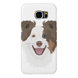 Case-Mate Barely There Samsung Galaxy S6 Case with Collie Phone Cases design