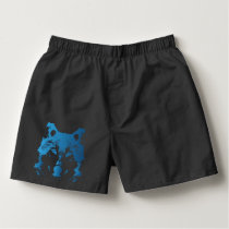 Illustration Ice Blue Wolf Boxers