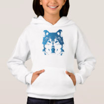Illustration Ice Blue Wolf Hoodie