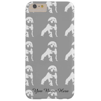 Illustration in granite pattern barely there iPhone 6 plus case