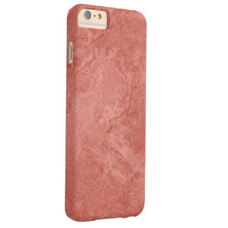 Illustration in red marble pattern barely there iPhone 6 plus case