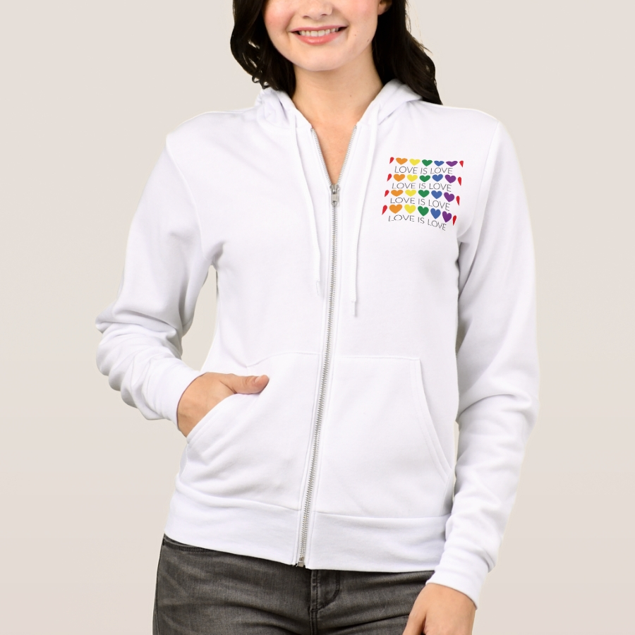 Illustration LGBT love is love Hoodie - Durable Women's Outdoor Clothing