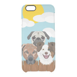 Uncommon iPhone 6 Clearly™ Deflector Case with Collie Phone Cases design