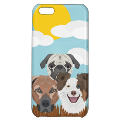 Case Savvy Matte Finish iPhone 5C Case with Collie Phone Cases design