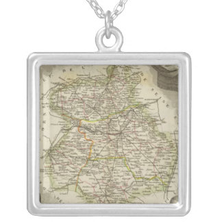 Illustration maps silver plated necklace
