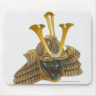Illustration of 16th century samurai helmet mouse pad