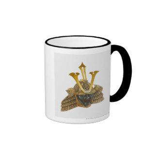 Illustration of 16th century samurai helmet coffee mug