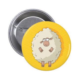Illustration of a cute and funny giant sheep buttons
