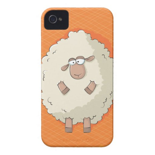 Illustration of a cute and funny giant sheep iPhone 4 cases