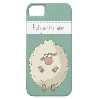 Illustration of a cute and funny giant sheep iPhone 5 case