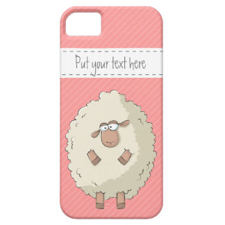 Illustration of a cute and funny giant sheep iPhone 5 cover