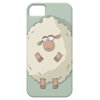 Illustration of a cute and funny giant sheep iPhone 5 covers
