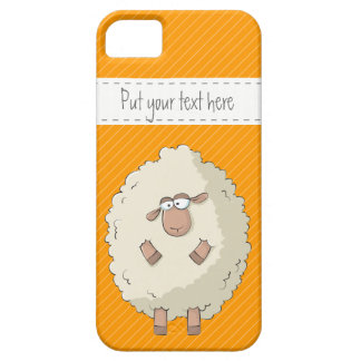 Illustration of a cute and funny giant sheep iPhone 5 cases