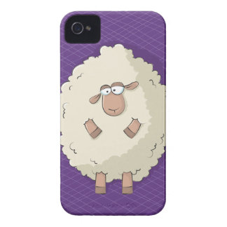Illustration of a cute and funny giant sheep Case-Mate iPhone 4 case
