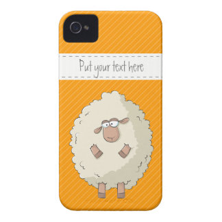 Illustration of a cute and funny giant sheep Case-Mate iPhone 4 cases