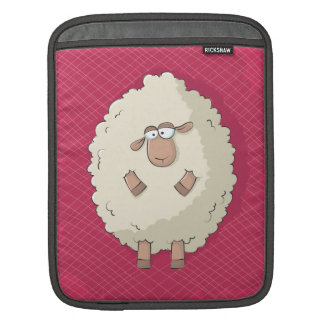 Illustration of a cute and funny giant sheep iPad sleeve