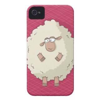 Illustration of a cute and funny giant sheep iPhone 4 Case-Mate cases