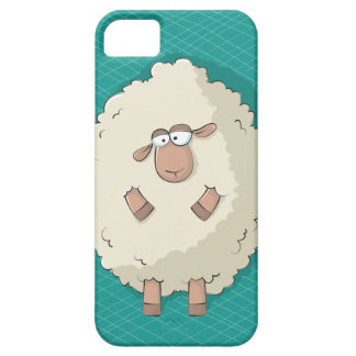 Illustration of a cute and funny giant sheep iPhone SE/5/5s case