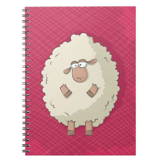 Illustration of a cute and funny giant sheep note books