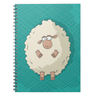 Illustration of a cute and funny giant sheep note book