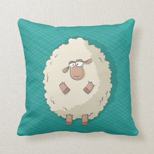 Cute Pillow Illustration : Illustration of a cute and funny giant sheep pillow Zazzle