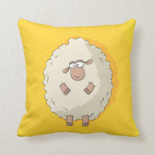 Cute Pillow Illustration : Illustration of a cute and funny giant sheep pillows Zazzle