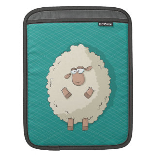 Illustration of a cute and funny giant sheep sleeve for iPads
