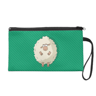 Illustration of a cute and funny giant sheep wristlet