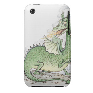 Illustration of a dragon spitting fire Case-Mate iPhone 3 case