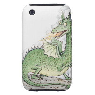 Illustration of a dragon spitting fire iPhone 3 tough case