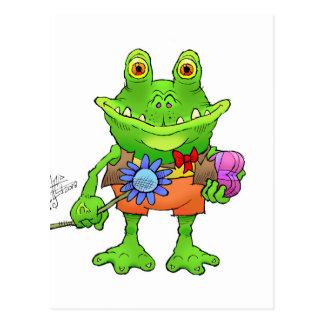 Illustration of a frog. postcard