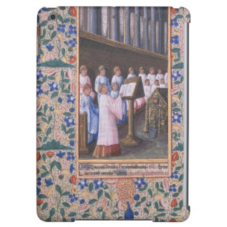 Illustration of a funeral service iPad air case