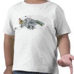 Illustration of a futuristic base on the Moon T-shirts