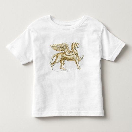 Illustration of a griffin statue toddler t-shirt