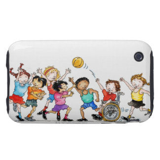 Illustration of a group of children including a iPhone 3 tough cover