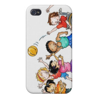 Illustration of a group of children including a iPhone 4/4S cover