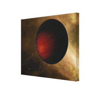 Illustration of a hot Jupiter called HD 149026b Canvas Print