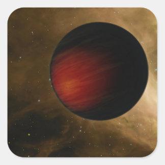 Illustration of a hot Jupiter called HD 149026b Square Sticker