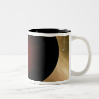 Illustration of a hot Jupiter called HD 149026b Two-Tone Coffee Mug